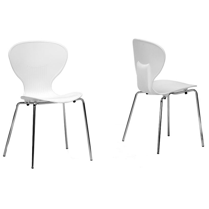 Boujan White Plastic Modern Dining Chair Dcg Stores