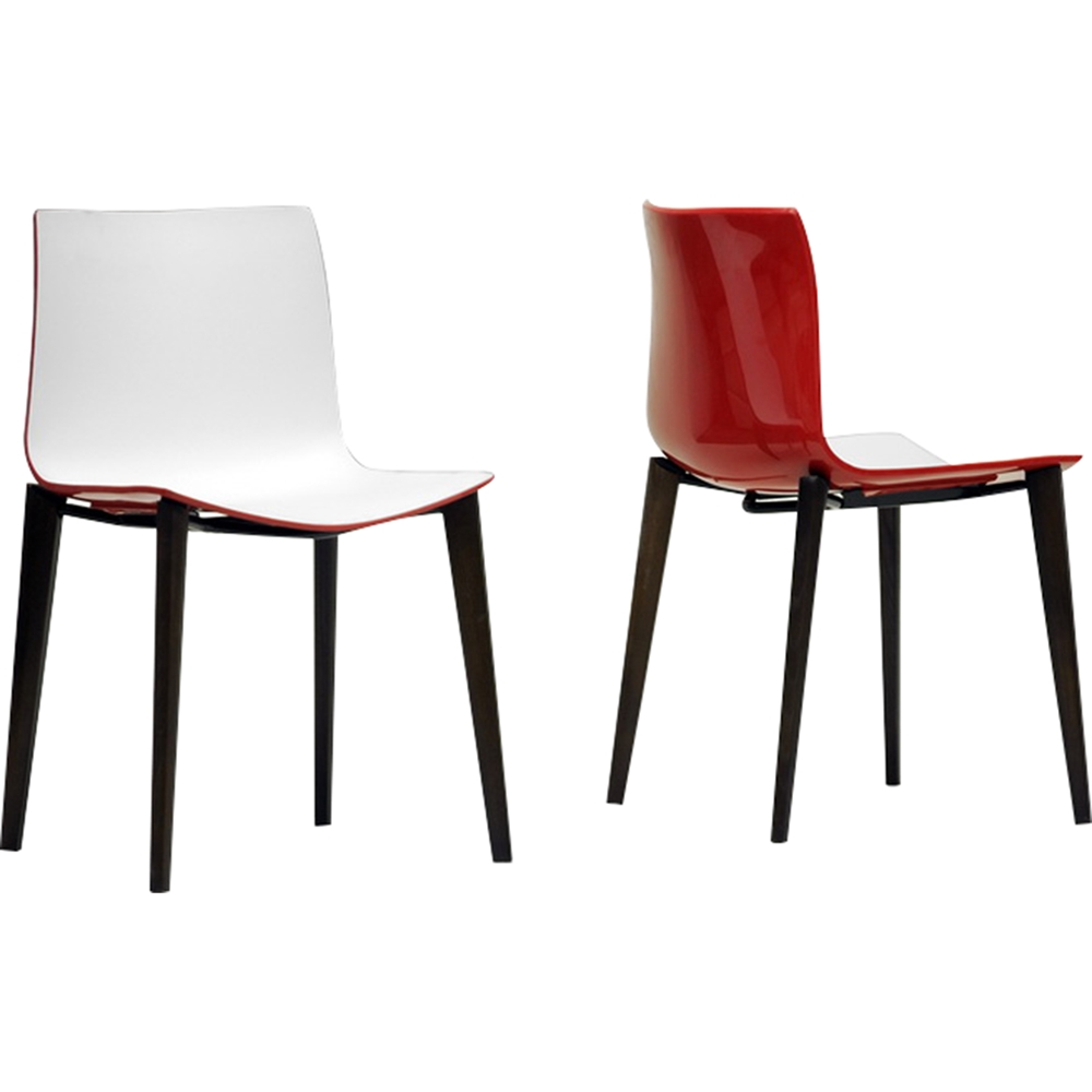Soren Dining Chair - White, Red (Set Of 2)