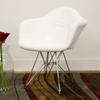 Lia White Tufted Eiffel Arm Chair - WI-DC-311G