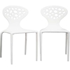 Durante Plastic Molded Chair - White (Set of 2) - WI-DC-317-WHITE
