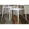 Oketo Stackable White Plastic Modern Dining Chair - WI-DC-452-B-WHT