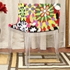 Fiore Floral Acrylic Chair - WI-DC-493-FABRIC