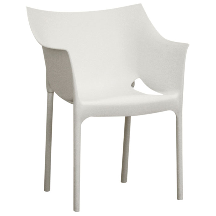 Belrose White Molded Plastic Arm Chair Dcg Stores