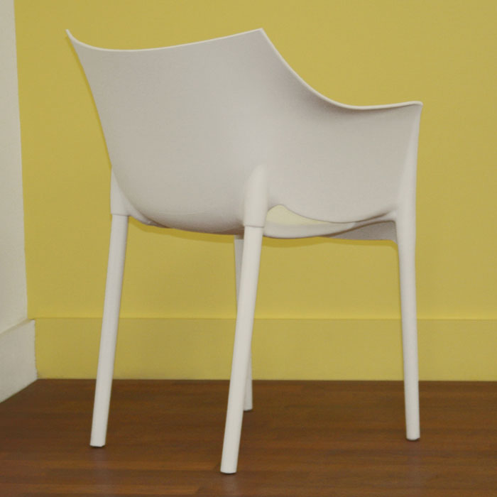 Belrose White Molded Plastic Arm Chair - WI-DC-58-WHITE