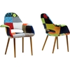 Forza Patchwork Accent Chair - Multicolor (Set of 2) - WI-DC-594V-PATCH