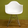 Dario White Molded Plastic Chair (Set of 2) - WI-DC-622C