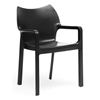 Limerick Molded Plastic Dining Chair - Stackable, Black - WI-DC-671-BLACK