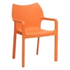 Limerick Molded Plastic Dining Chair - Stackable, Orange - WI-DC-671-ORANGE