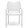 Limerick Molded Plastic Dining Chair - Stackable, White - WI-DC-671-WHITE