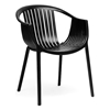 Grafton Molded Plastic Dining Chair - Stackable, Black - WI-DC-751-BLACK