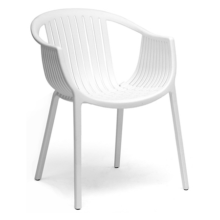 Grafton Molded Plastic Dining Chair Stackable White