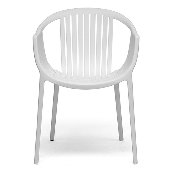 Grafton Molded Plastic Dining Chair - Stackable, White - WI-DC-751-WHITE