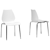 Overlea White Plastic Modern Dining Chair