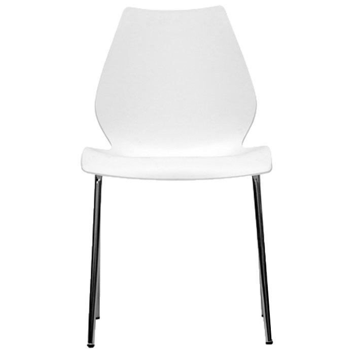Overlea White Plastic Modern Dining Chair Dcg Stores
