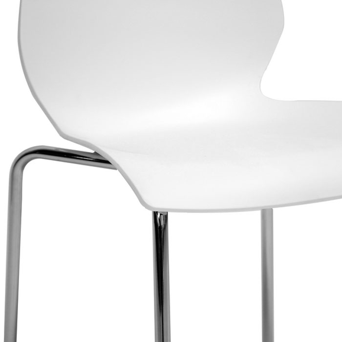Overlea White Plastic Modern Dining Chair - WI-DC-7A-WHITE