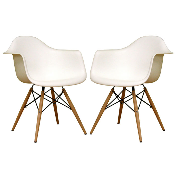 Pascal White Plastic Chair Dcg Stores
