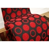 Forte Black and Red Patterned Fabric Accent Chair - WI-DC-88047