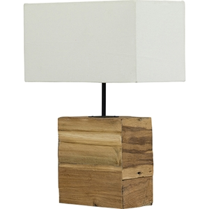 Satori Table Lamp - White, Light Brown