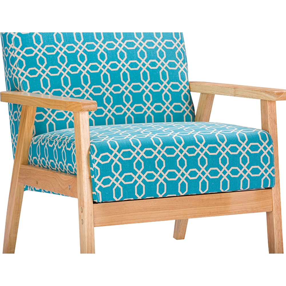 Francis Patterned Fabric Armchair - Light Blue | DCG Stores