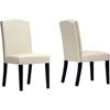 Trullinger Dining Chair - Nailhead, Beige (Set of 2) - WI-DO6056-BEIGE-DC