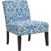 Phaedra Paisley Ikat Slipper Chair - Sea - WI-DO6077-1-SEA