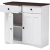 Lauren 2 Doors Buffet Kitchen Cabinet White Wenge
