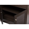 Agni Buffet and Hutch Kitchen Cabinet - Dark Brown - WI-DR-883701-WENGE
