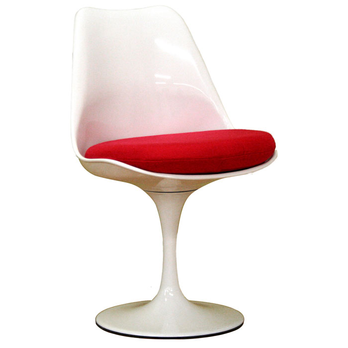 Cyma White and Red Plastic Chair - WI-DR73238