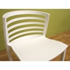 Ofilia White Plastic Chair - WI-DR84478
