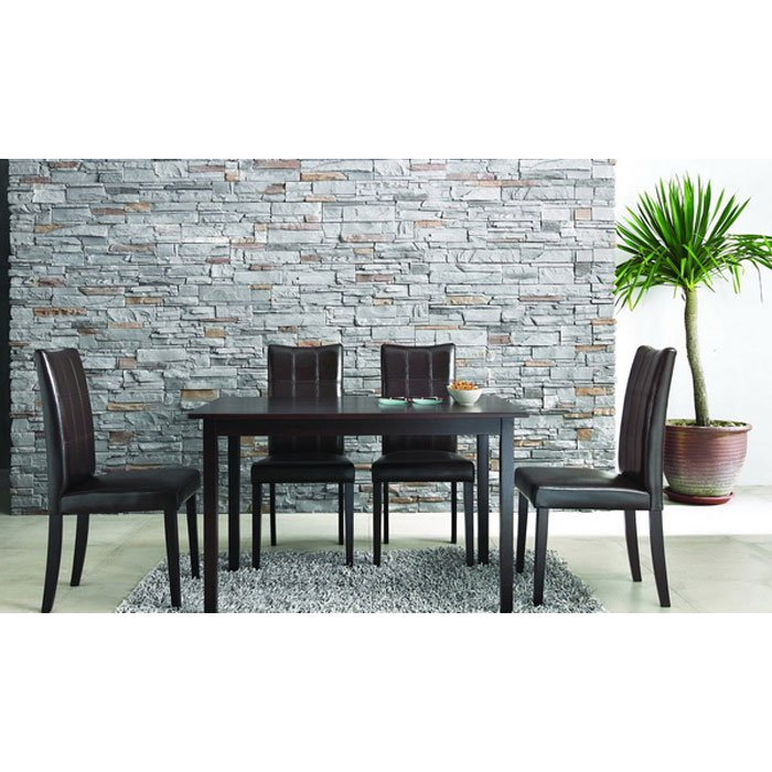 Eden Dark Brown 5 Piece Dining Set - WI-EDEN-SET-5PC