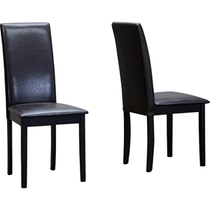 Fallabella Dining Chair - Dark Brown (Set of 2)