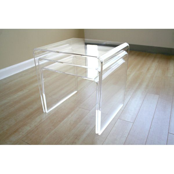Clear acrylic nesting tables dcg stores