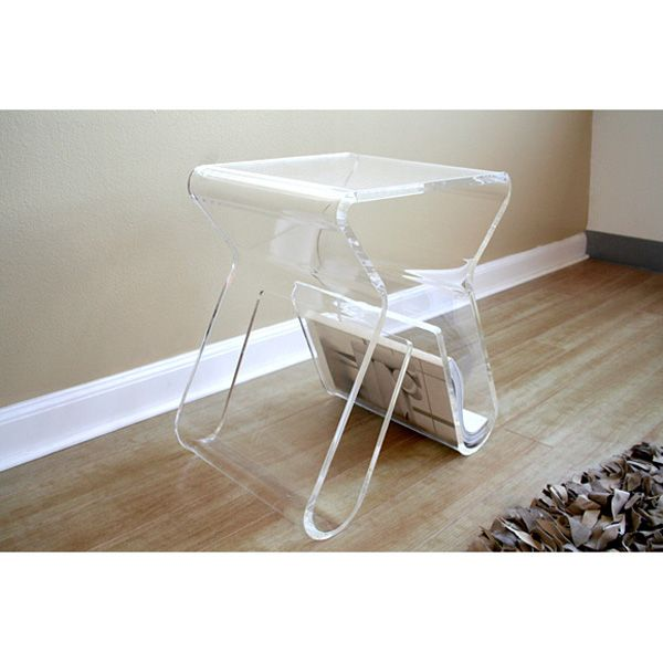 Clear Acrylic End Table Dcg Stores