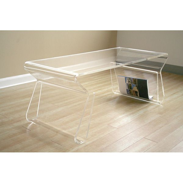 Clear acrylic coffee table dcg stores for Clear lucite acrylic coffee table
