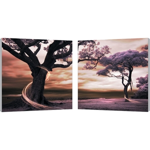 Lilac Enchantment Mounted Photography Print Diptych - Multicolor