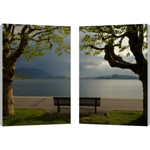 Pristine View Mounted Photography Print Diptych - Multicolor