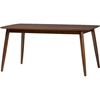 Flora Rectangular Dining Table - Light Gray, Oak Medium Brown - WI-FLORA-MEDIUM-OAK-DT