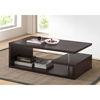 Lindy Rectangular Coffee Table - Dark Brown - WI-FP-2TIER-CT