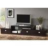 Marconi Asymmetrical TV Stand - Dark Brown, 3 Drawers
