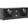 Foley 2 Drawers TV Stand - 2 Doors, Dark Brown - WI-FTV-884
