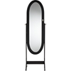 Apache Free Standing Cheval Mirror Jewelry Armoire - Black - WI-GLD13220-BLACK