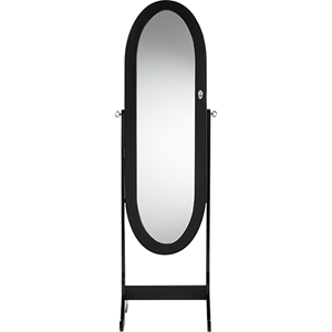 Apache Free Standing Cheval Mirror Jewelry Armoire - Black