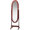 Apache Free Standing Cheval Mirror Jewelry Armoire - Brown - WI-GLD13220-BROWN