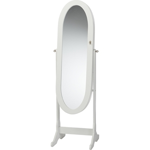 Apache Free Standing Cheval Mirror Jewelry Armoire - White
