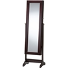 Alena Jewelry Mirror - Brown, Free Standing Cheval Mirror - WI-GLD13316-BROWN
