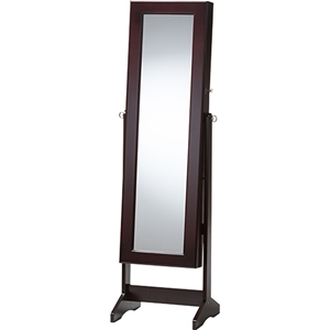 Alena Jewelry Mirror - Brown, Free Standing Cheval Mirror