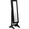 Wessex Floor Jewelry Armoire - Black - WI-GLD13318-BLACK