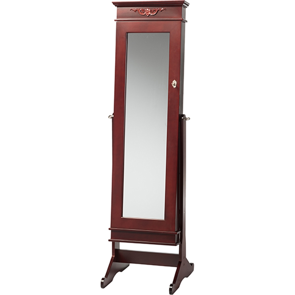 Bimini Free Standing Mirror Jewelry Armoire Brown Dcg