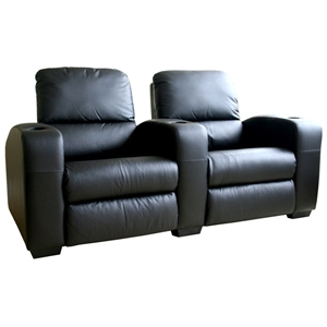 Showtime 2-Seat Leather Theater Sectional