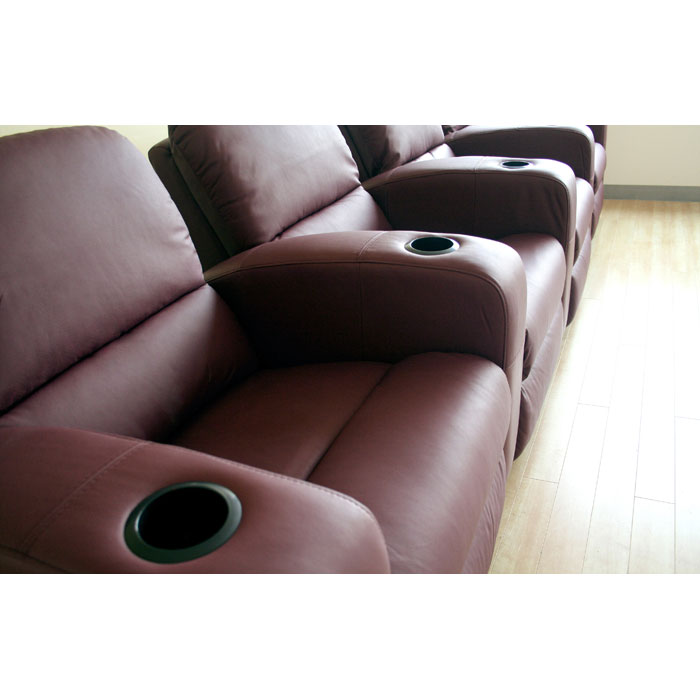 Showtime 4-Seat Leather Theater Sectional - WI-HT638-4-SEAT
